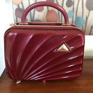 Triforce Maroon Travel Makeup/ Beauty Luggage